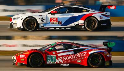 12h-Sebring-2018-Qualifying-BMW-M8-GTE-Ferrari-488-GT3