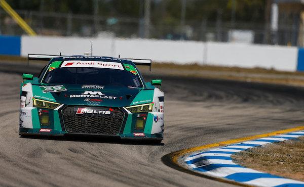 12h-Sebring-2018-erste-Rennhaelfte-Land-Motorsport-Audi-R8-LMS-Nr.29