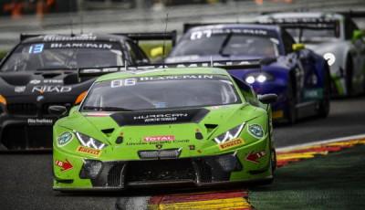 #19 GRT Grasser Racing Team, Lamborghini Huracan GT3, Luca Stolz, Michele Beretta, Andrea Piccini