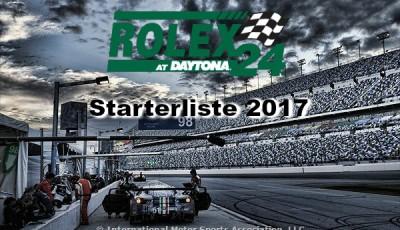24h Daytona 2017 Starterliste