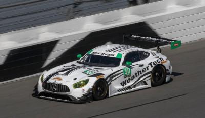 Riley Motorsports – WeatherTech Racing Mercedes-AMG GT3 #50; Thomas Jäger, Gunnar Jeannette, Cooper MacNeil, Shane van Gisbergen
