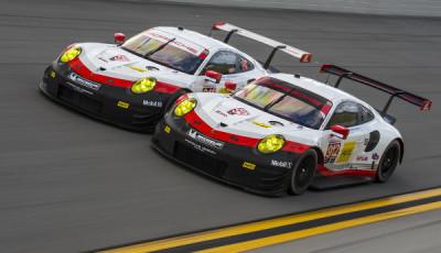 24h-Daytona-2017-Testtage-Roar-Porsche-911-RSR-nebeneinander