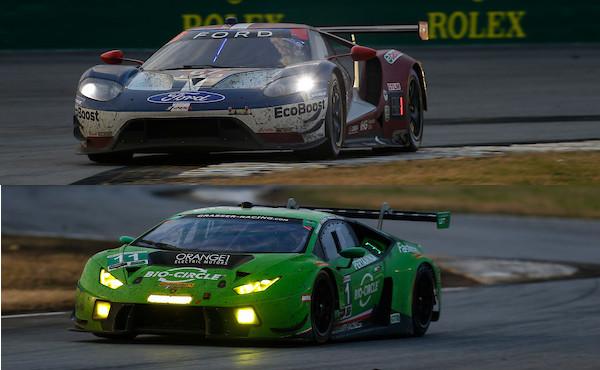 24h-Daytona-2018-Sieger-Ford-GT-Nr.67-Grasser-Lamborghini-Nr.11