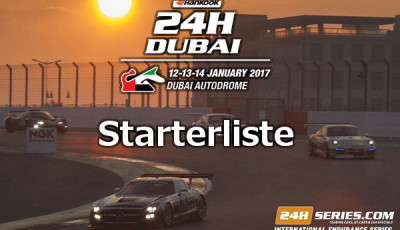 24h Dubai 2017 Starterliste