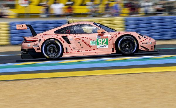 24h-Le-Mans-2018-Vortest-Porsche-911-RSR-Porsche-GT-Team-Nr.92-Kevin-Estre-Michael-Christensen-Laurens-Vanthoor