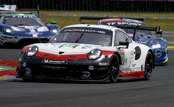 24h-Le-Mans-2018-Vortest-Porsche-911-RSR-Porsche-GT-Team-Nr.93-Nick-Tandy-Patrick-Pilet-Earl-Bamber