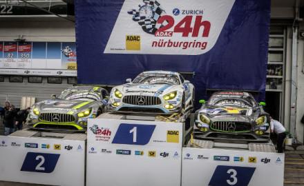 Vierfach-Sieg von Mercedes-AMG GT3 bei den 24h Nürburgring 2016