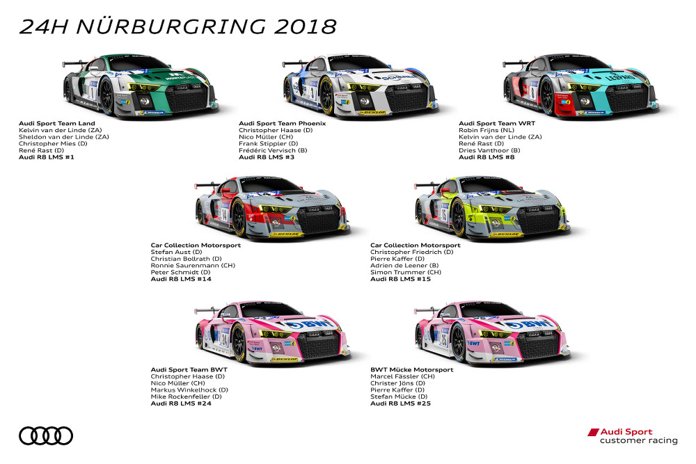 Audi Sport customer racing, 24h Nürburgring 2018