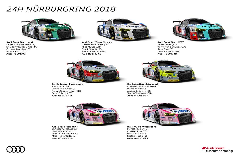 Audi Sport customer racing, 24h Nürburgring 2018