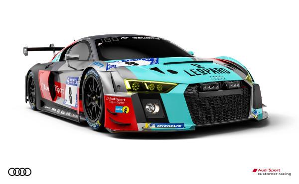 Audi R8 LMS #8 (Audi Sport Team WRT), Robin Frijns/Kelvin van der Linde/René Rast/Dries Vanthoor