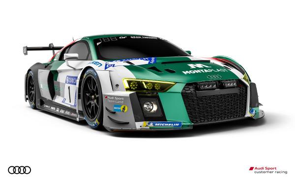 Audi R8 LMS #1 (Audi Sport Team Land),  Kelvin van der Linde/Sheldon van der Linde/Christopher Mies/René Rast