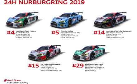 24h-Nuerburgring-2019-Preview-Audi-Sport-customer-racing-GT3-Teams-Audi-R8-LMS.