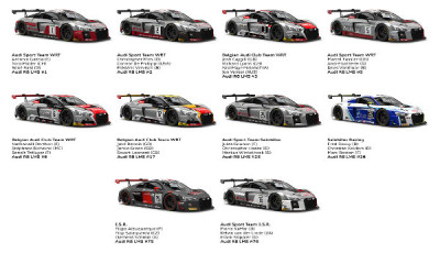 24h-Spa-2017-10-Audi-R8-LMS-Teams-und-Fahrer