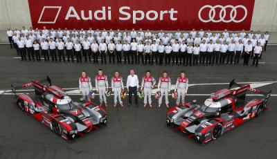 24h-le-Mans-2016-Testtag-Audi-Mannschaft