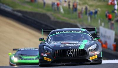 #86 HTP Motorsport Mercedes AMG GT3 Jules Szymkowiak/Bernd Schneider Brands Hatch 2016