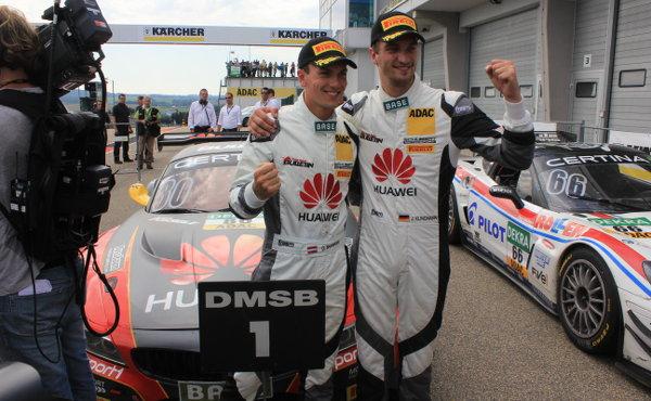 ADAC-GT-Masters-2015-Sachsenring-Sieger-Lauf1-Jens-Klingmann-Dominik-Baumann