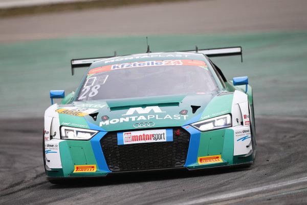 ADAC-GT-Masters-2018-Hockenheimring-freies-Training-1-Land-Motorsport-Audi-R8-LMS-Nr.28