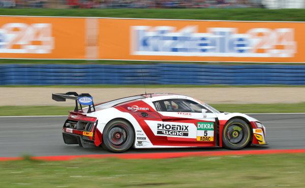 ADAC-GT-Masters-2018-Oschersleben-Rennen-1-Phoenix-Racing-Audi-R8-LMS-Nr.5