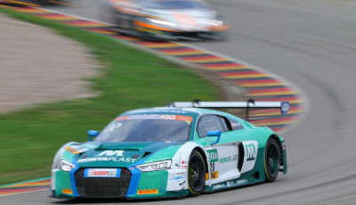 ADAC-GT-Masters-2018-Sachsenring-Rennen-1-Land-Motorsport-Audi-R8-LMS-Nr.28