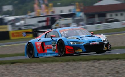ADAC-GT-Masters-2019-Most-Qualifying-1-HCB-Rutronik-Racing-Audi-R8-LMS-Nr.31