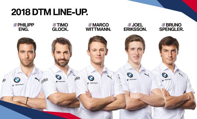 BMW-DTM-2019-Fahrer-Philipp-Eng-Timo-Glock-Marco-Wittmann-Joel-Eriksson-Bruno-Spengler