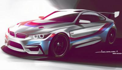 BMW M4 GT4 Skizze