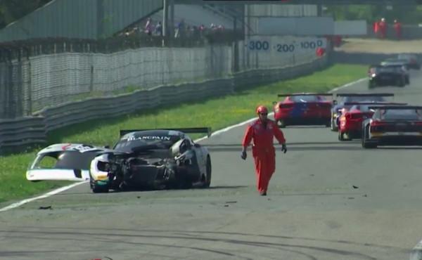 Blancpain-Endurance-2018-Monza-Qualifying-Unfall-Ram-Racing-Mercedes-Nr.49