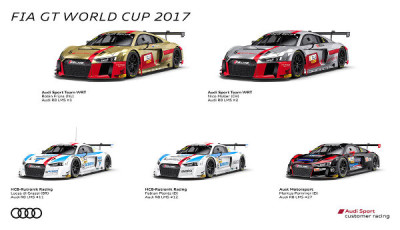 FIA-GT-World-Cup-Macau-2017-Audi-Teams