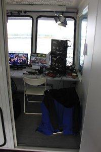 TV-Kommentatoren-Kabine GT Masters Hockenheimring