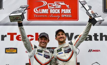 IMSA-2017-Lime-Rock-Park-Podium-Patrik-Pilet-Dirk-Werner