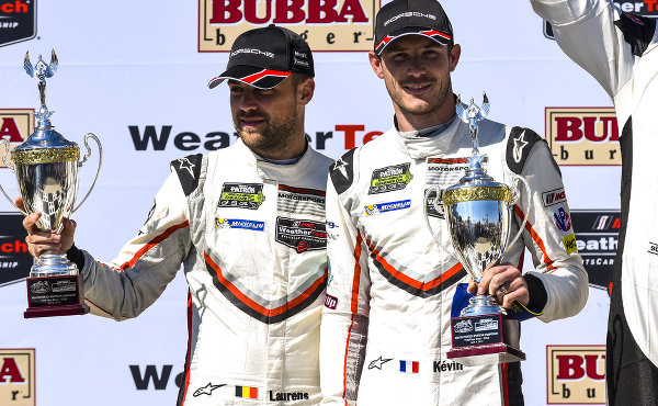 IMSA-2017-Long-Beach-Podium-Laurens-Vanthoor-Kevin-Estre