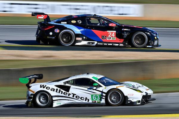 IMSA-2018-Petit-Le-Mans-Qualifying-BMW-M8-GTE-Nr.24-Ferrari-488-GT3-Nr.63