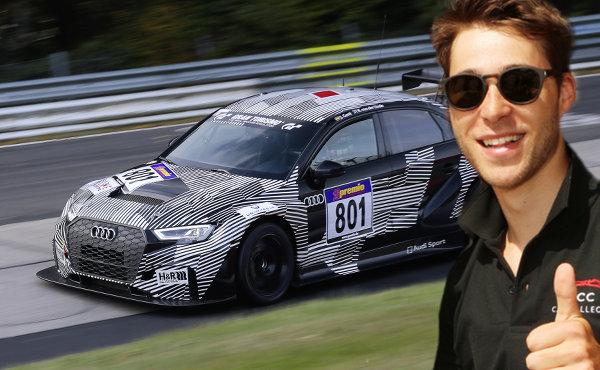Audi RS 3 LMS #801 (Phoenix Racing), Kelvin van der Linde