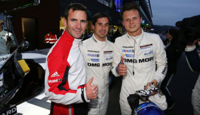 Porsche Team: Romain Dumas, Neel Jani, Marc Lieb, first pole position for Porsche LMP1