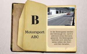 Motorsport ABC: Boxengasse