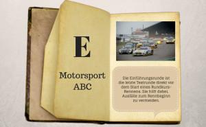 Motorsport ABC: Einfuehrungsrunde