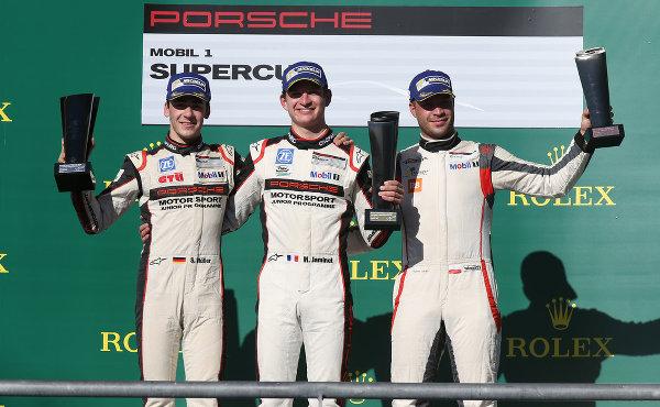 Porsche-Supercup-2016-Lauf-9-Podium-Sven-Mueller-Mathieu-Jaminet-Robert-Lukas