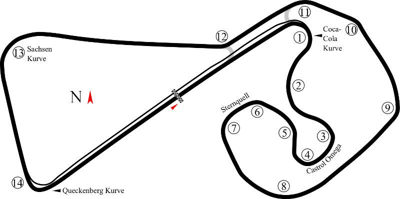 Circuito Sachsenring : Gt masters vorschau zum rennen am sachsenring
