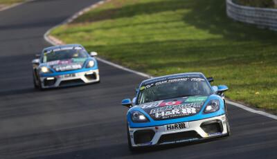 VLN Langstreckenmeisterschaft Nuerburgring 2019, 44. DMV Muensterlandpokal (2019-10-26): #979 - Moritz Kranz, Thorsten Jung, Nico Menzel (Porsche 718 Cayman GT4 CS) - CUP3