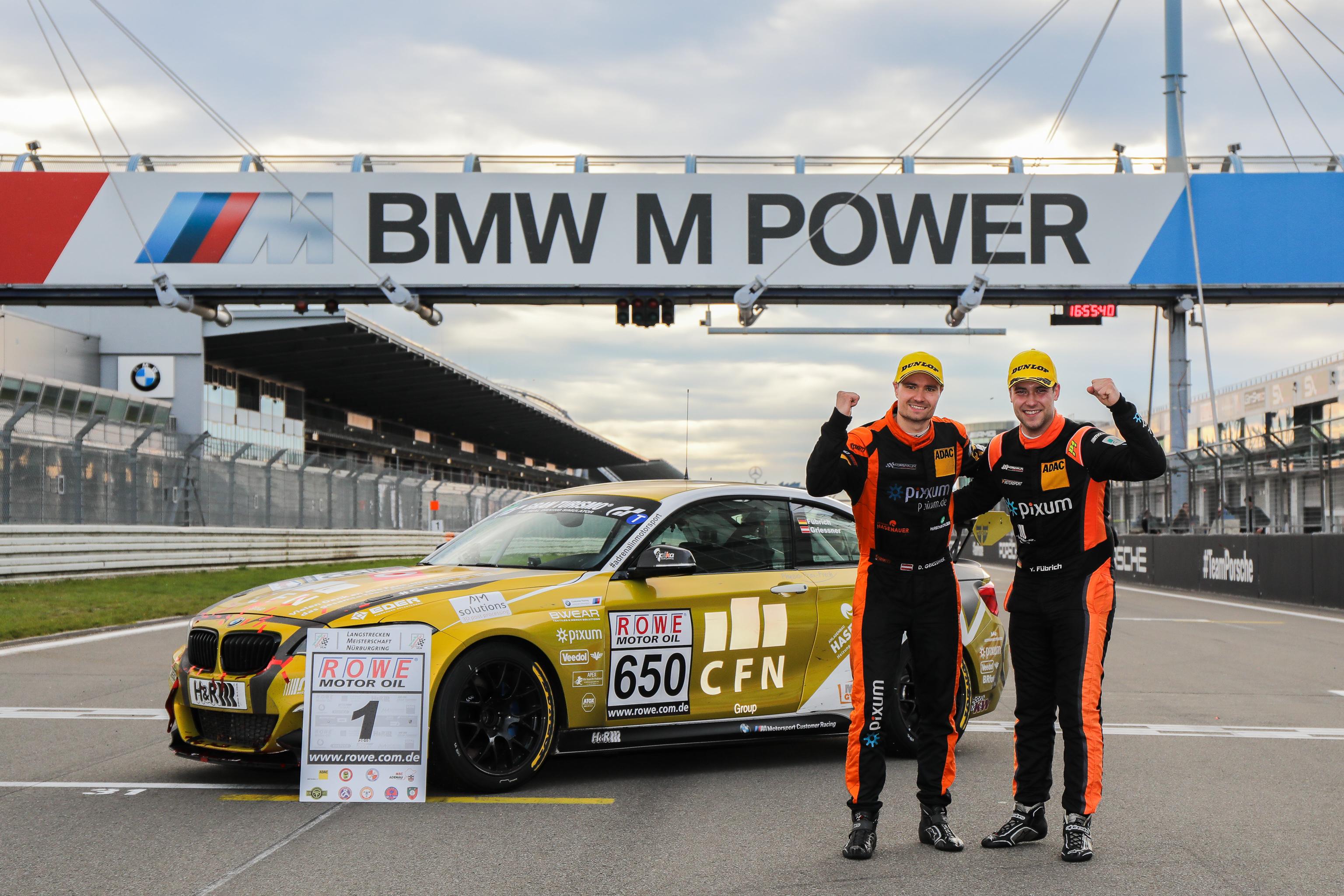 VLN Langstreckenmeisterschaft Nuerburgring 2019, 44. DMV Muensterlandpokal (2019-10-26): #650 - David Griessner, Yannick Fuebrich (BMW M240i Racing Cup) - CUP5