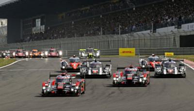 Audi R18 (2016) #7 (Audi Sport Team Joest), Marcel Fässler, André Lotterer Audi R18 (2016) #8 (Audi Sport Team Joest), Lucas di Grassi, Loïc Duval, Oliver Jarvis